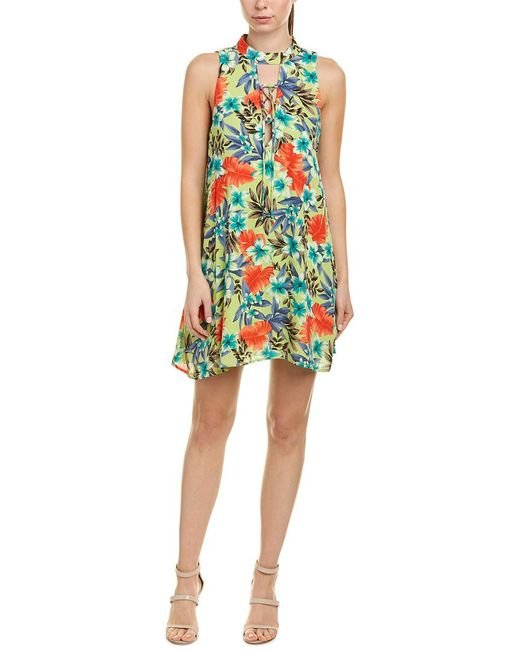 Peach Love CA Multicolor Lace-up Shift Dress