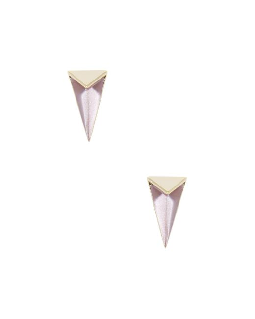 Alexis Bittar - Pink Lucite Faceted Pyramid Stud Earrings - Lyst