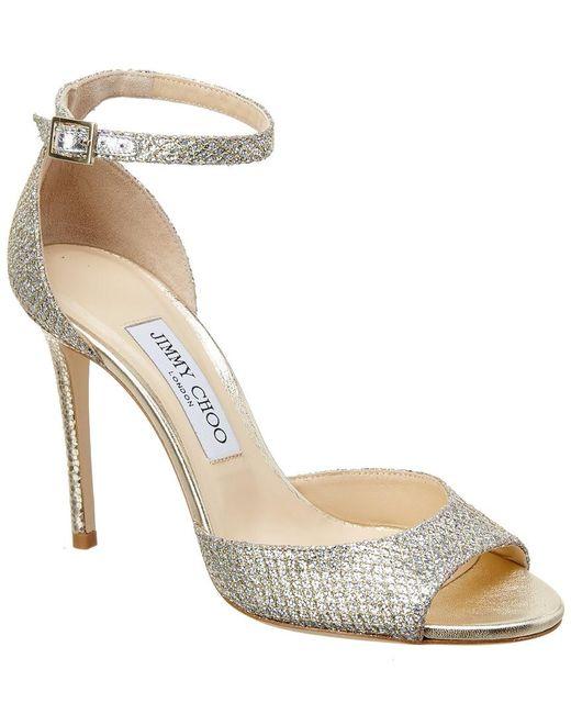 1ca0c2ce009 Lyst - Jimmy Choo Annie 85 Glitter Sandal in Metallic - Save 27%