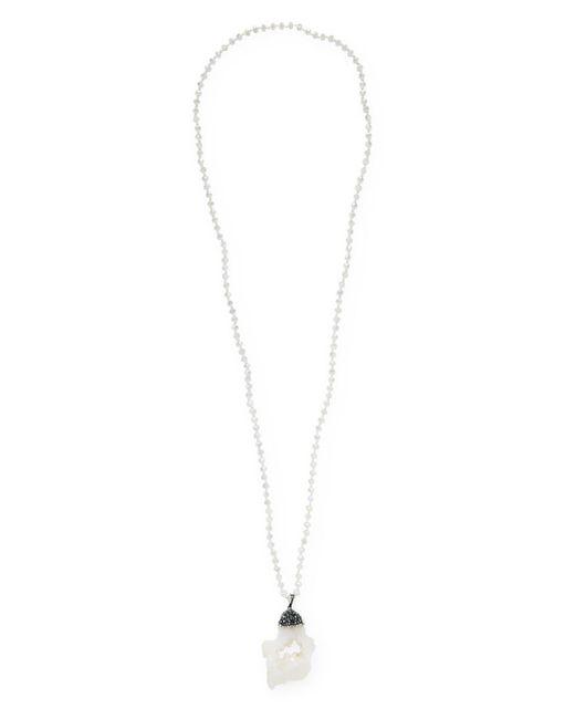 Elise M - White Terra Pendant Necklace - Lyst