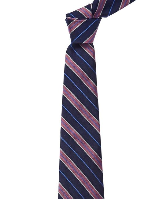 Brooks Brothers - Blue Navy & Pink Stripe Silk Tie for Men - Lyst