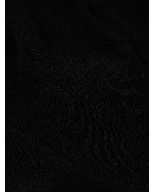 Black lace inset maxi dress