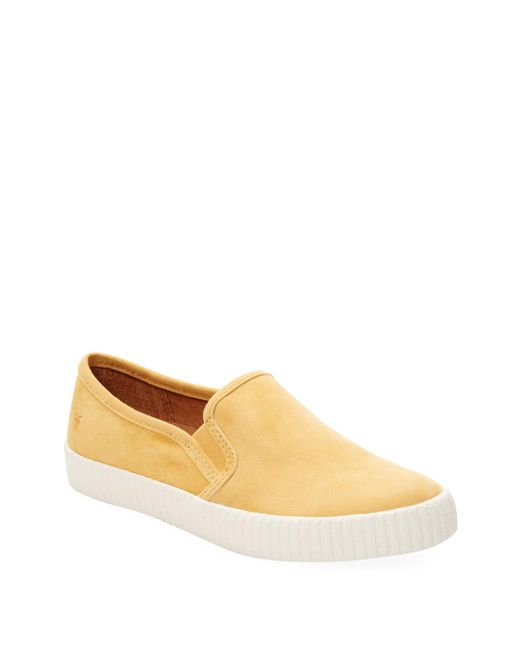 Frye - Yellow Camille Leather Slip On Sneaker - Lyst