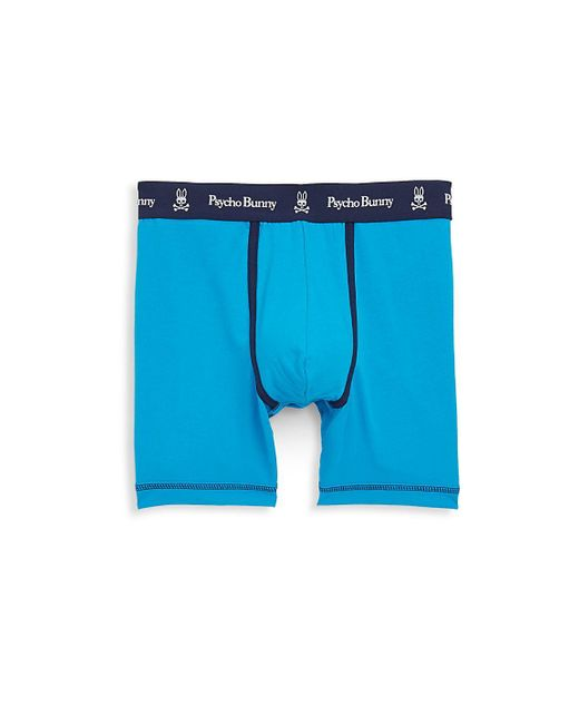 Psycho Bunny - Blue Brights Logo Boxer Briefs for Men - Lyst