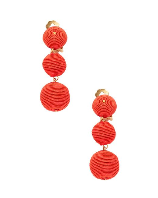 Kenneth Jay Lane | Red Thread-wrapped Balls Drop Earrings | Lyst