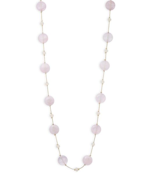Saks Fifth Avenue - Metallic Long Beaded Necklace - Lyst