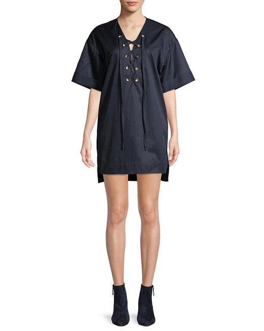 Kendall + Kylie - Blue Kendall + Kylie Lace-up High-low Dress - Lyst
