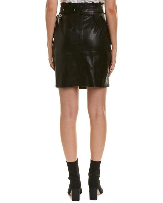 cdafab581bbc IRO Amblum Leather Skirt in Black - Save 1% - Lyst