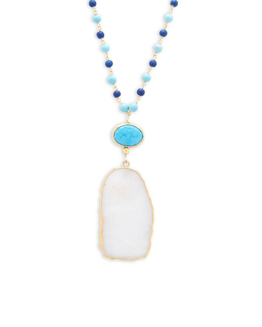 Alanna Bess - Multicolor Beaded Pendant Necklace - Lyst