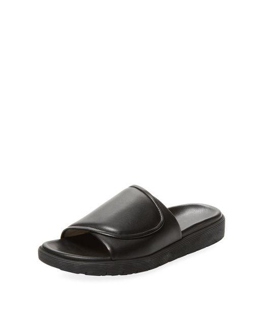 Helmut Lang - Black Leather Foldover Slip-on Sandal for Men - Lyst