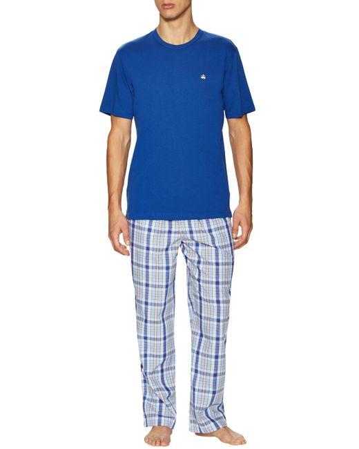 Brooks Brothers   Blue Loungeset Multi Plaid Pajama Pants for Men   Lyst