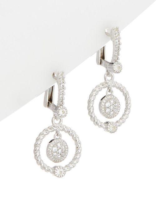 Judith Ripka - Metallic Silver 0.40 Ct. Tw. White Topaz Drop Earrings - Lyst
