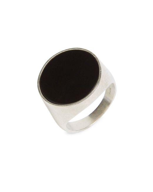 Maison Margiela - Metallic Thick Silver Ring - Lyst