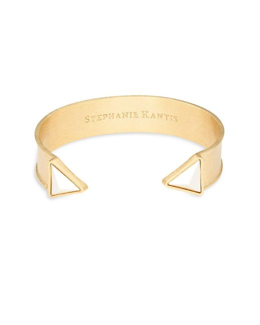 Stephanie Kantis - Metallic Trio Triangle Cuff Bracelet - Lyst