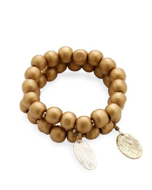 Alanna Bess Jewelry | Metallic Beaded Gold Friendship Bracelet | Lyst