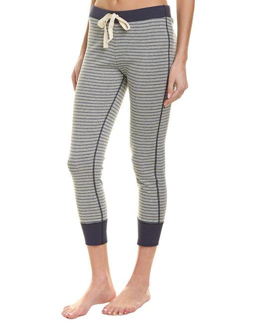Three Dots Gray Striped Pajama Pant