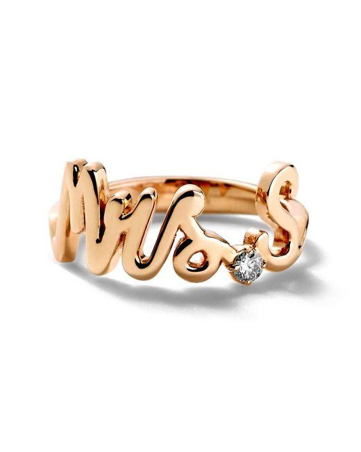 Alison Lou | Metallic Mrs. Ring | Lyst