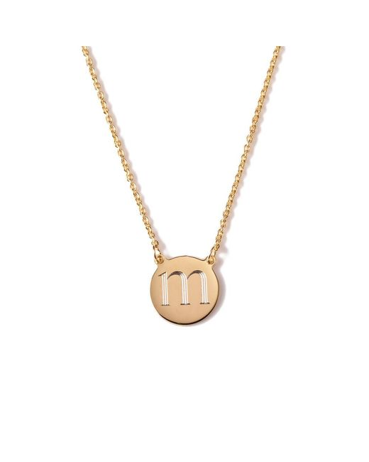 Sarah Chloe | Metallic Cara Round Necklace | Lyst