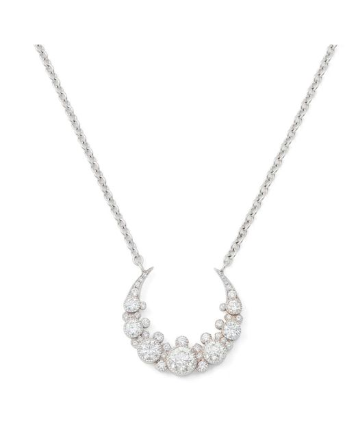 Colette - Metallic Moon Diamond Necklace - Lyst