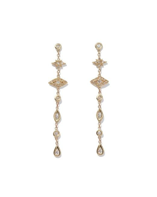 Jacquie Aiche - Metallic Shining Star & Eye Diamond Drop Earrings - Lyst