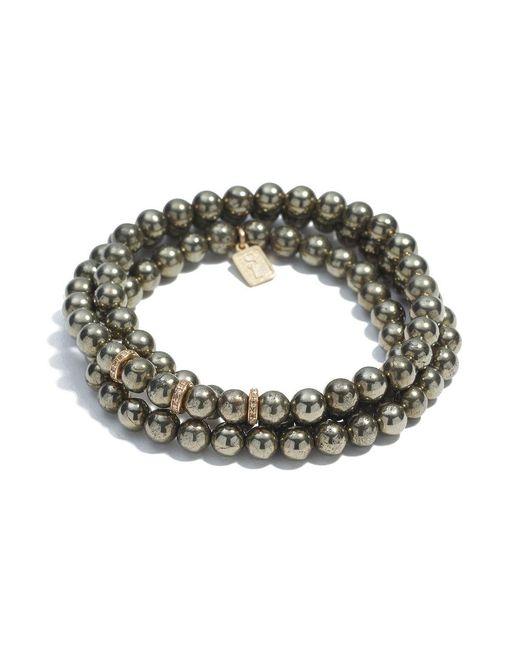 Sheryl Lowe - Multicolor Pyrite Wrap Bracelet - Lyst