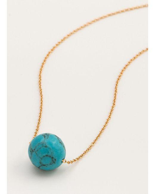 Gorjana & Griffin | Metallic Power Gemstone Turquoise Bead Adjustable Necklace For Healing | Lyst