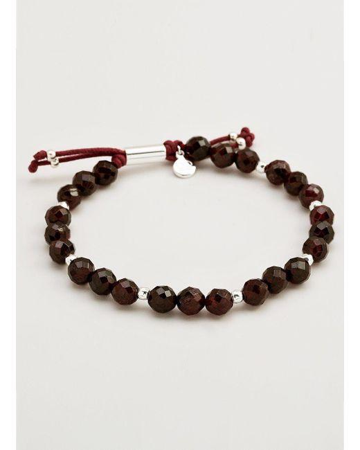 Gorjana & Griffin - Metallic Power Gemstone Garnet Beaded Bracelet For Energy - Lyst