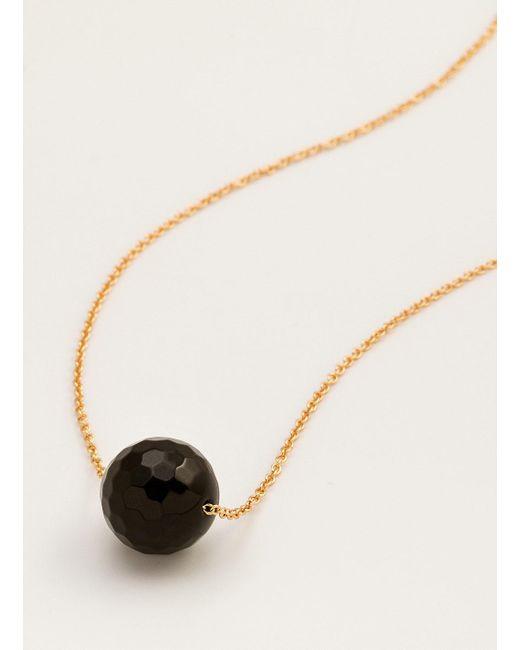 Gorjana & Griffin | Metallic Power Gemstone Black Onyx Bead Adjustable Necklace For Protection | Lyst