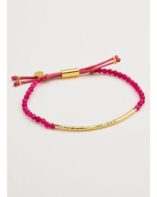 Gorjana & Griffin - Metallic Power Gemstone Pink Jade Bracelet For Dream - Lyst