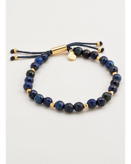 Gorjana & Griffin | Metallic Power Gemstone Lapis Beaded Bracelet For Wisdom | Lyst