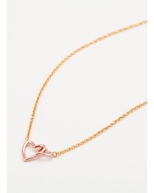 Gorjana & Griffin | Metallic Mini + Me Interlocking Hearts Child Necklace | Lyst
