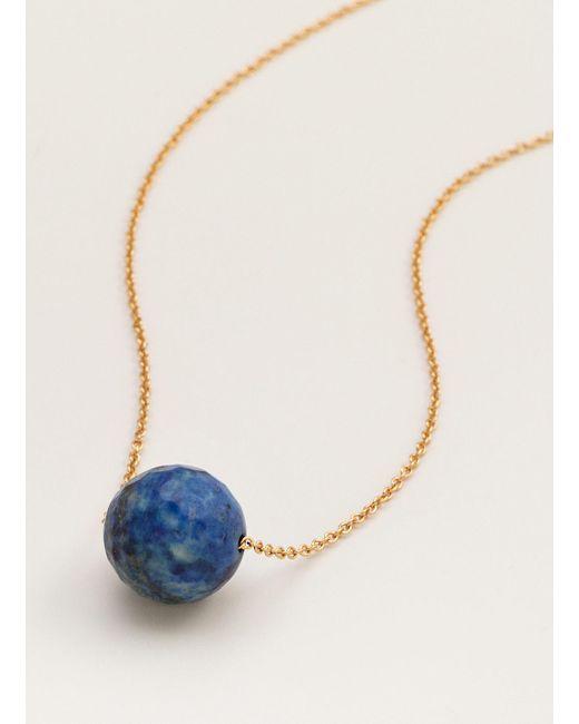 Gorjana & Griffin | Metallic Power Gemstone Lapis Bead Adjustable Necklace For Wisdom | Lyst