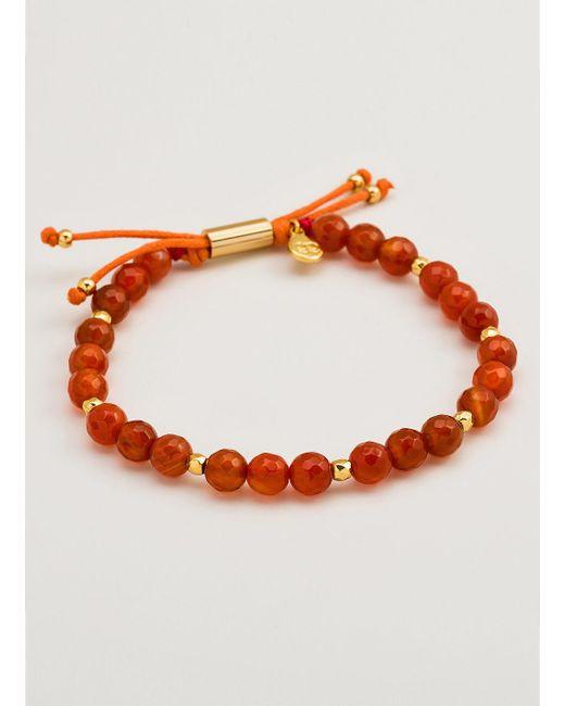 Gorjana & Griffin | Metallic Power Gemstone Orange Agate Beaded Bracelet For Confidence | Lyst