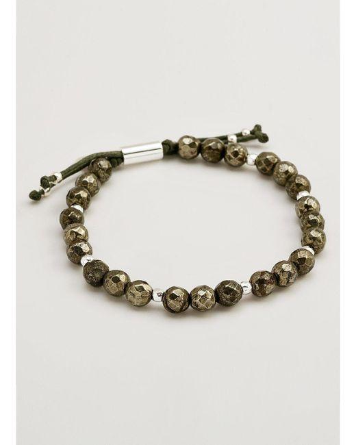 Gorjana Power Gemstone Pyrite Bracelet for Strength, Gold