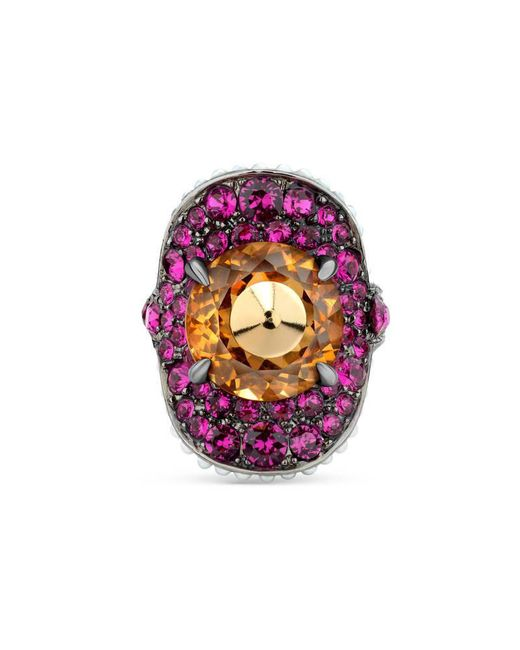 Gucci - Multicolor Ring With Stud And Crystals - Lyst