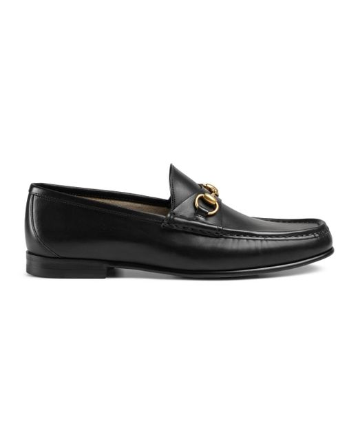 Gucci Black 1953 Horsebit Leather Loafers for men