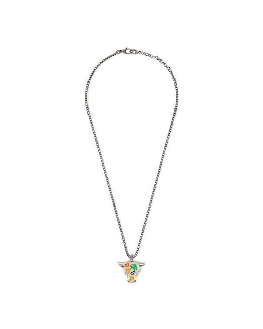 Gucci | Metallic Anger Forest Bull's Head Necklace | Lyst