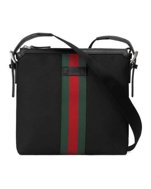 Gucci - Black Web Small Messenger Bag for Men - Lyst
