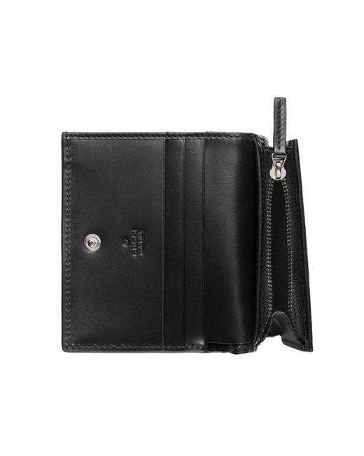 251da0a5625 ... Gucci - Black Signature Card Case for Men - Lyst ...