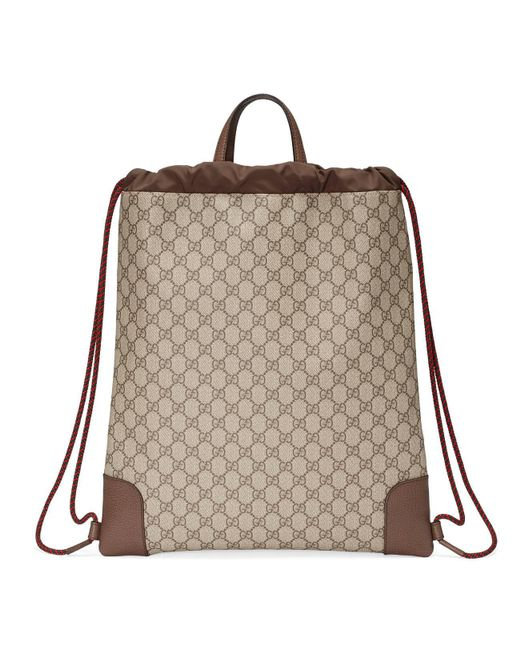5177983a3cb3aa ... Gucci - Natural Courrier Soft GG Supreme Drawstring Backpack for Men -  Lyst ...