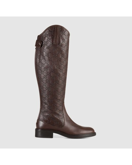 Gucci | Brown 'maud' Boot | Lyst