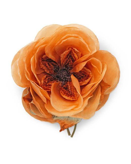 Gucci - Orange Oversize Flower Brooch - Lyst