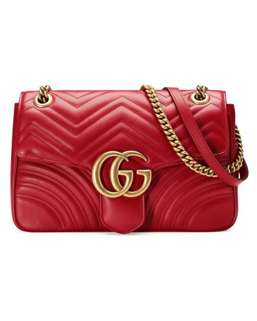 Gucci - Multicolor GG Marmont Matelassé Leather Shoulder Bag - Lyst