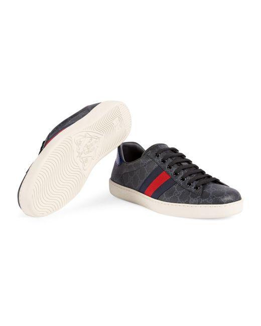 ea6c4741ca5 Gucci Ace GG Supreme Sneaker in Blue for Men - Save 1% - Lyst