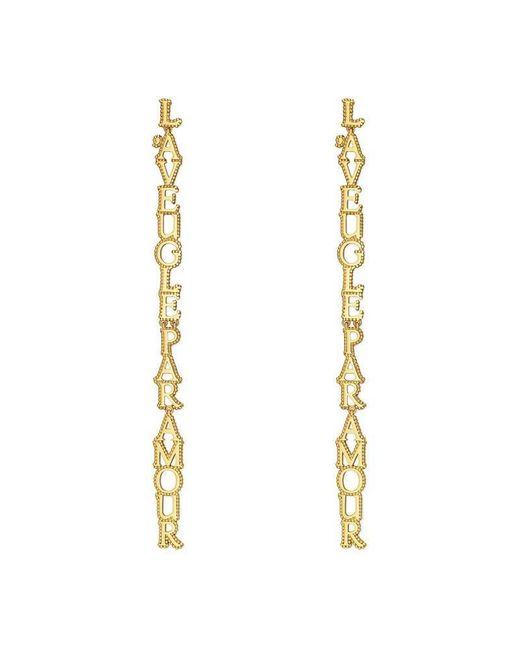 Gucci - Metallic L'aveugle Par Amour Earrings - Lyst