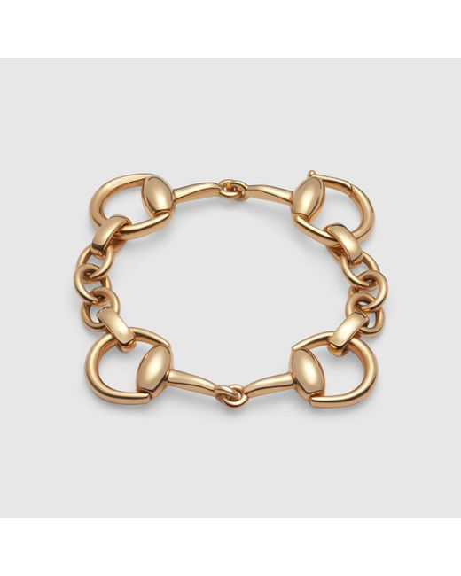 Gucci | Metallic Horsebit Bracelet In Yellow Gold | Lyst