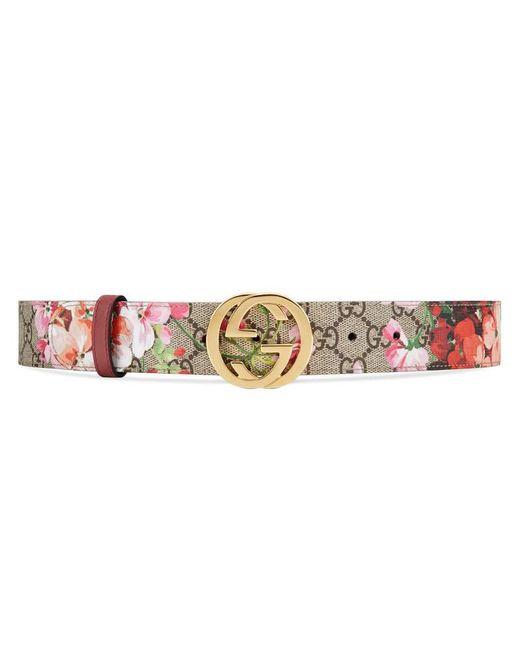 Gucci | Multicolor Gg Blooms Belt | Lyst