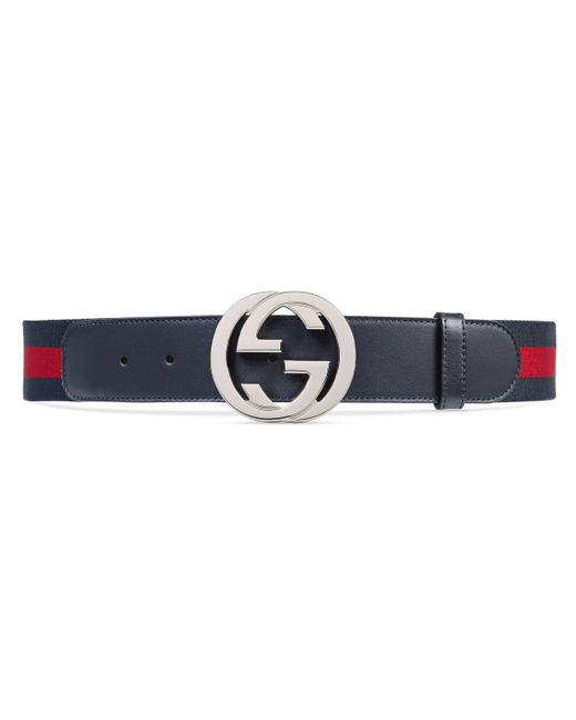 45dafae0611 Gucci Web Belt With G Buckle in Blue for Men - Save ...