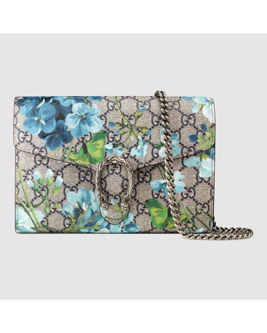 eb871b421c5da5 Gucci Dionysus Blooms Print Mini Chain Bag 401231 | Stanford Center ...