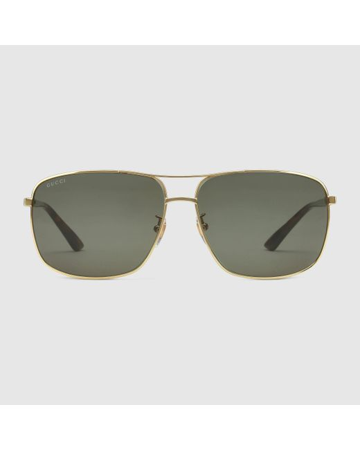 Gucci | Multicolor Square-frame Metal Sunglasses | Lyst